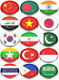 Flags of the Asia Royalty Free Stock Photography