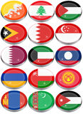 Flags of the Asia Royalty Free Stock Image