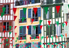 Flags for august festival in Bayonne Stock Image
