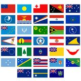 Flags of Australia and Oceania Royalty Free Stock Image