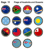 Flags of Australia and Oceania. Flags 11. Vector illustration Stock Photo