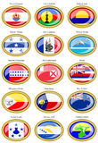 Flags of Australia, Oceania, Polynesia, Micronesia and Melanesia. Royalty Free Stock Photography
