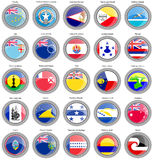 Flags of Australia and Oceania. Set of icons. Flags of Australia and Oceania Stock Photo