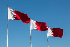Flags of Bahrain Royalty Free Stock Photos