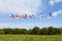 Flags of Baltic Sea Countries Stock Photo