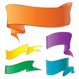 Flags and banners. Colors flags and banners gradient stock illustration