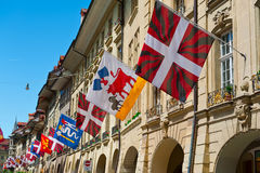 Flags in Berne Stock Photo