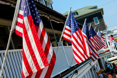 Flags on Block Island Royalty Free Stock Photo