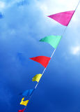 Flags blowing in the wind Royalty Free Stock Photography