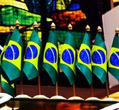Flags of Brazil royalty free stock image