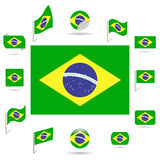 Flags of Brazil. Royalty Free Stock Image