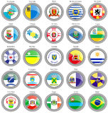 Flags of the Brazilian cities Stock Photos