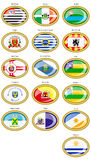 Flags of the Brazilian states and cities. Royalty Free Stock Photos