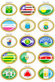 Flags of the Brazilian states and cities Stock Photography
