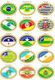 Flags of the Brazilian states Stock Images
