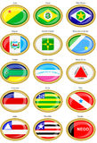 Flags of the Brazilian states Royalty Free Stock Photos