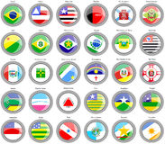 Flags of the Brazilian states Stock Photo