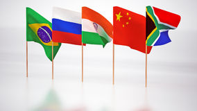 Flags of the BRICS Stock Images