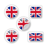 Flags of British. Royalty Free Stock Images