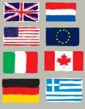 Flags brush Stock Image
