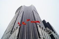 Flags and buildings Royalty Free Stock Photos