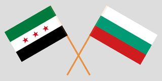 Flags of Bulgaria and Syrian National Coalition. Vector. Illustration royalty free illustration