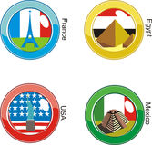 Flags button Stock Photo