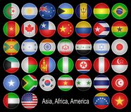 Flags-buttons. Royalty Free Stock Photo