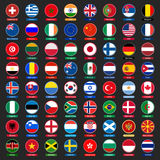 Flags buttons Stock Photo