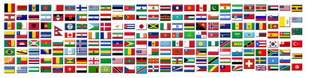 Flags Buttons Royalty Free Stock Image