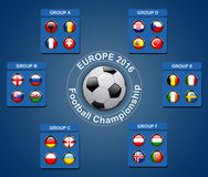 Flags buttons of football championship 2016. Flags buttons of members countries of European football championship 2016, vector Stock Photography