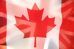Flags of Canada and Great Britain Stock Photos