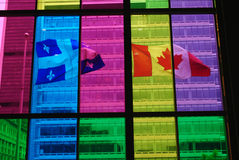 FLAGS of CANADA & QUEBEC Royalty Free Stock Image