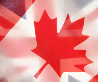 Flags of Canada and the UK Royalty Free Stock Photography