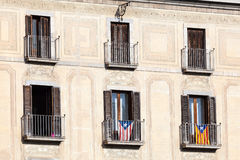 Flags of Catalonia and Cuba Stock Images