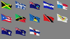 Flags of Central America (Part 2 of 2) Stock Images