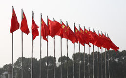 Flags of china Royalty Free Stock Photo