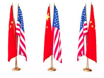 Flags of China and the United State Royalty Free Stock Images