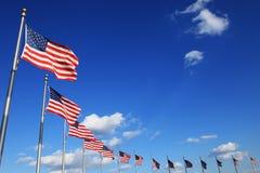 Flags. Circle of american flags at the washington monument, washington, dc, usa royalty free stock images