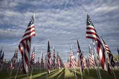 Flags with Clouds Royalty Free Stock Photo