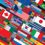 Flags Collage Backdrop Royalty Free Stock Images