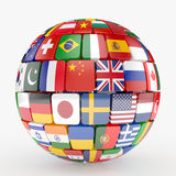 Flags collection sphere Royalty Free Stock Photo