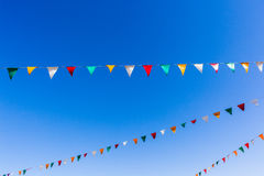 Flags Colors Blue Sky Stock Image