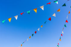 Flags Colors Blue Sky Royalty Free Stock Image