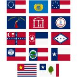 Flags of the Confederate States of America Stock Photos