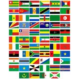 Flags of the countries of Africa Royalty Free Stock Image