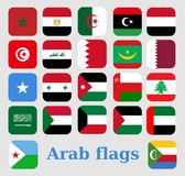 Flags Countries Arabic vector illustration stock photography