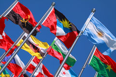 Flags of countries around the world Stock Image