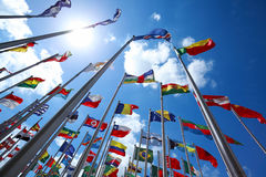 Flags of countries around the world Royalty Free Stock Images