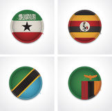 Flags of countries as fabric badges Royalty Free Stock Photos